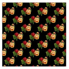 Vintage Roses Wallpaper Pattern Large Satin Scarf (square)