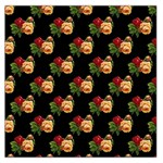 Vintage Roses Wallpaper Pattern Large Satin Scarf (Square) Front