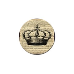 Vintage Music Sheet Crown Song Golf Ball Marker (10 Pack)