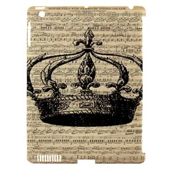 Vintage Music Sheet Crown Song Apple Ipad 3/4 Hardshell Case (compatible With Smart Cover) by Nexatart