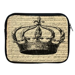 Vintage Music Sheet Crown Song Apple Ipad 2/3/4 Zipper Cases by Nexatart