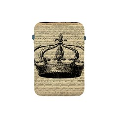 Vintage Music Sheet Crown Song Apple Ipad Mini Protective Soft Cases by Nexatart