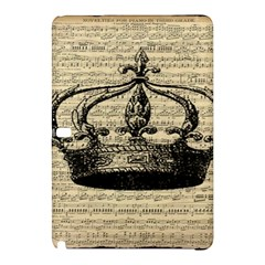 Vintage Music Sheet Crown Song Samsung Galaxy Tab Pro 12 2 Hardshell Case by Nexatart