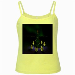 Waiting For The Xmas Christmas Yellow Spaghetti Tank