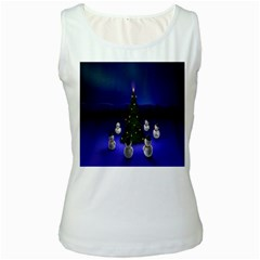 Waiting For The Xmas Christmas Women s White Tank Top