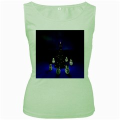 Waiting For The Xmas Christmas Women s Green Tank Top