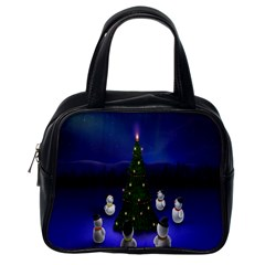 Waiting For The Xmas Christmas Classic Handbags (one Side) by Nexatart