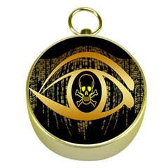 Virus Computer Encryption Trojan Gold Compasses by Nexatart