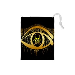 Virus Computer Encryption Trojan Drawstring Pouches (small)  by Nexatart