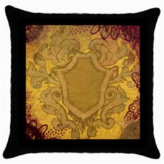 Vintage Scrapbook Old Ancient Throw Pillow Case (black)