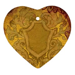 Vintage Scrapbook Old Ancient Heart Ornament (two Sides) by Nexatart
