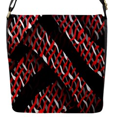 Weave And Knit Pattern Seamless Flap Messenger Bag (s)