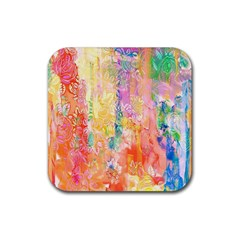 Watercolour Watercolor Paint Ink Rubber Square Coaster (4 Pack)