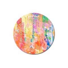 Watercolour Watercolor Paint Ink Magnet 3  (round)