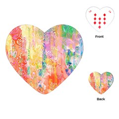 Watercolour Watercolor Paint Ink Playing Cards (heart)  by Nexatart