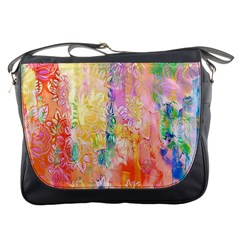 Watercolour Watercolor Paint Ink Messenger Bags