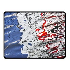 Water Reflection Abstract Blue Fleece Blanket (small) by Nexatart