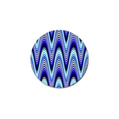 Waves Wavy Blue Pale Cobalt Navy Golf Ball Marker by Nexatart