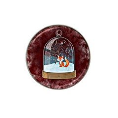 Winter Snow Ball Snow Cold Fun Hat Clip Ball Marker (4 Pack)