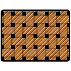 Wood Texture Weave Pattern Fleece Blanket (large)