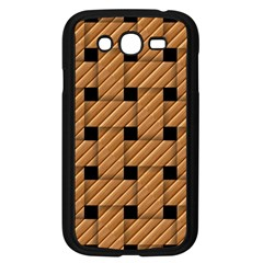 Wood Texture Weave Pattern Samsung Galaxy Grand Duos I9082 Case (black)