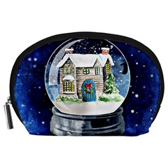 Winter Snow Ball Snow Cold Fun Accessory Pouches (large)  by Nexatart