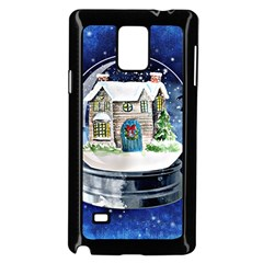 Winter Snow Ball Snow Cold Fun Samsung Galaxy Note 4 Case (black) by Nexatart