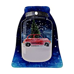 Winter Snow Ball Snow Cold Fun Ornament (bell) by Nexatart