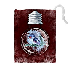 Winter Snow Ball Snow Cold Fun Drawstring Pouches (extra Large) by Nexatart