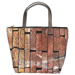 Wood Logs Wooden Background Bucket Bags