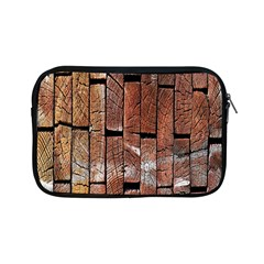 Wood Logs Wooden Background Apple Ipad Mini Zipper Cases by Nexatart