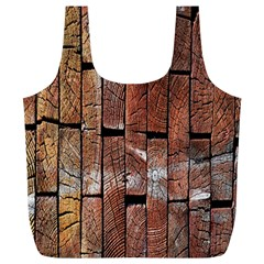 Wood Logs Wooden Background Full Print Recycle Bags (l)  by Nexatart
