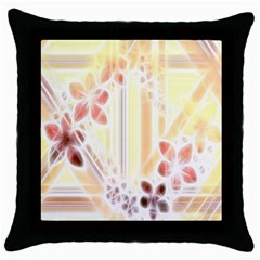 Swirl Flower Curlicue Greeting Card Throw Pillow Case (black)