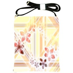 Swirl Flower Curlicue Greeting Card Shoulder Sling Bags by Nexatart