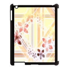 Swirl Flower Curlicue Greeting Card Apple Ipad 3/4 Case (black)