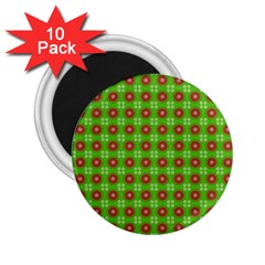 Wrapping Paper Christmas Paper 2 25  Magnets (10 Pack)  by Nexatart