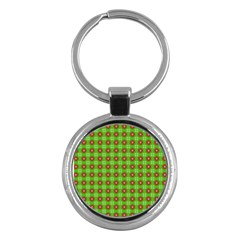 Wrapping Paper Christmas Paper Key Chains (round)  by Nexatart