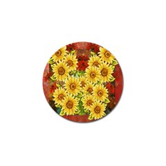 Sunflowers Flowers Abstract Golf Ball Marker (10 Pack)