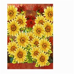 Sunflowers Flowers Abstract Large Garden Flag (two Sides)