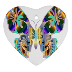 Abstract Animal Art Butterfly Ornament (heart) by Amaryn4rt