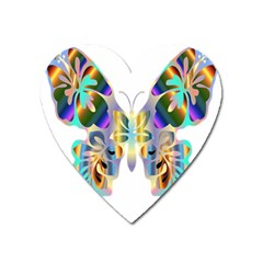 Abstract Animal Art Butterfly Heart Magnet by Amaryn4rt