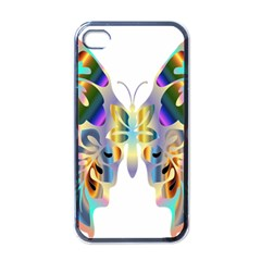 Abstract Animal Art Butterfly Apple Iphone 4 Case (black) by Amaryn4rt