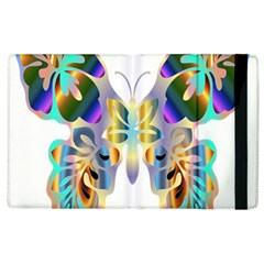 Abstract Animal Art Butterfly Apple Ipad 2 Flip Case by Amaryn4rt