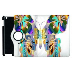 Abstract Animal Art Butterfly Apple Ipad 3/4 Flip 360 Case by Amaryn4rt