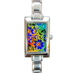 Abstract Background Backdrop Design Rectangle Italian Charm Watch by Amaryn4rt