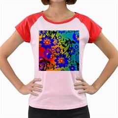 Abstract Background Backdrop Design Women s Cap Sleeve T Shirt by Amaryn4rt