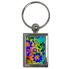 Abstract Background Backdrop Design Key Chains (rectangle)  by Amaryn4rt