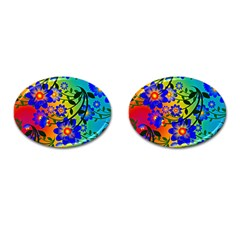 Abstract Background Backdrop Design Cufflinks (oval) by Amaryn4rt