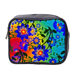Abstract Background Backdrop Design Mini Toiletries Bag 2 Side by Amaryn4rt