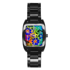 Abstract Background Backdrop Design Stainless Steel Barrel Watch by Amaryn4rt